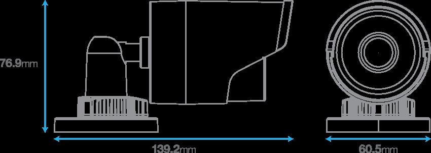 IP POE 1080P Infrared Bullet Camera