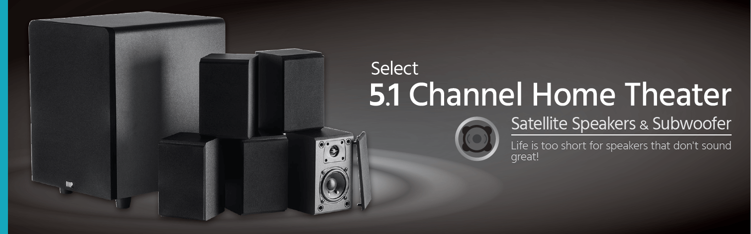 Select 5.1 Channel Home Theater Speaker System