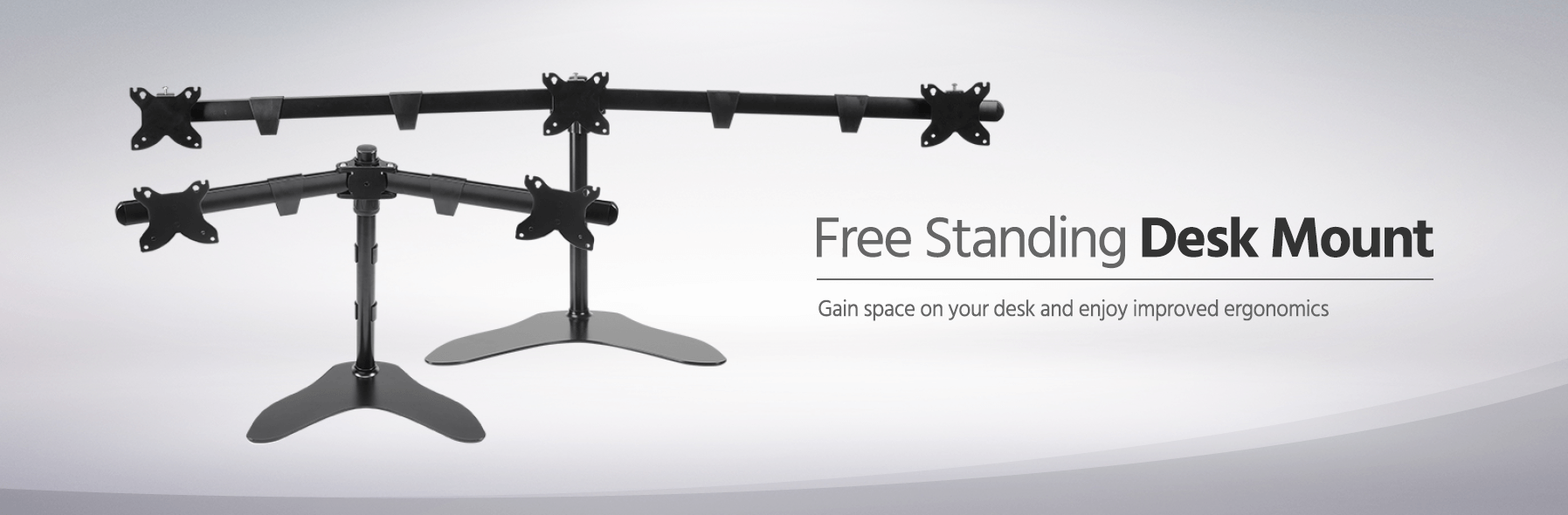 Monoprice Triple Monitor Free Standing Desk Mount 15 30 In