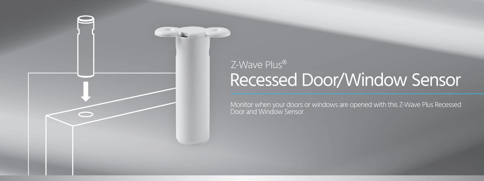 Monoprice Z Wave Plus Recessed Door Window Sensor No Logo