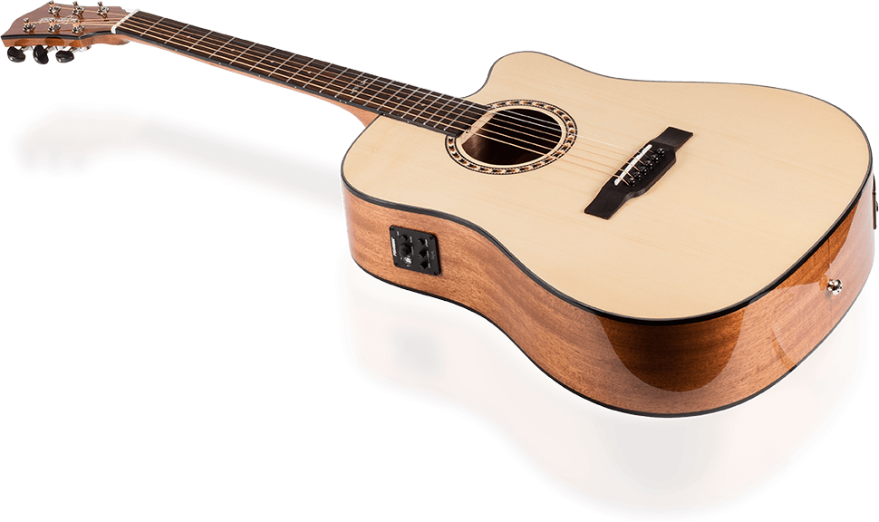 monoprice idyllwild spruce solid top acoustic electric guitar with fishman pickup tuner and gig. Black Bedroom Furniture Sets. Home Design Ideas