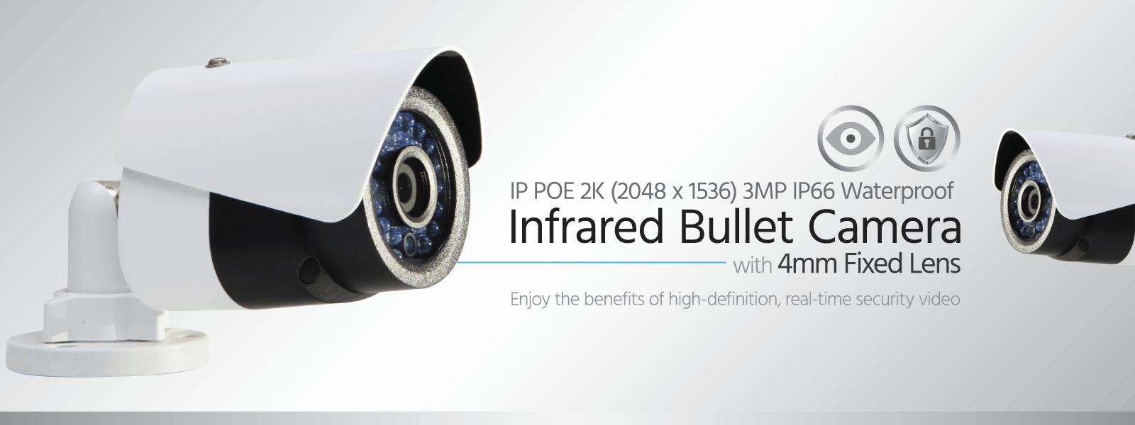 IP PoE Infrared Bullet Camera