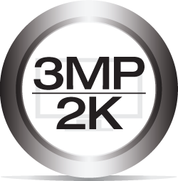 3MP / 2K Resolution