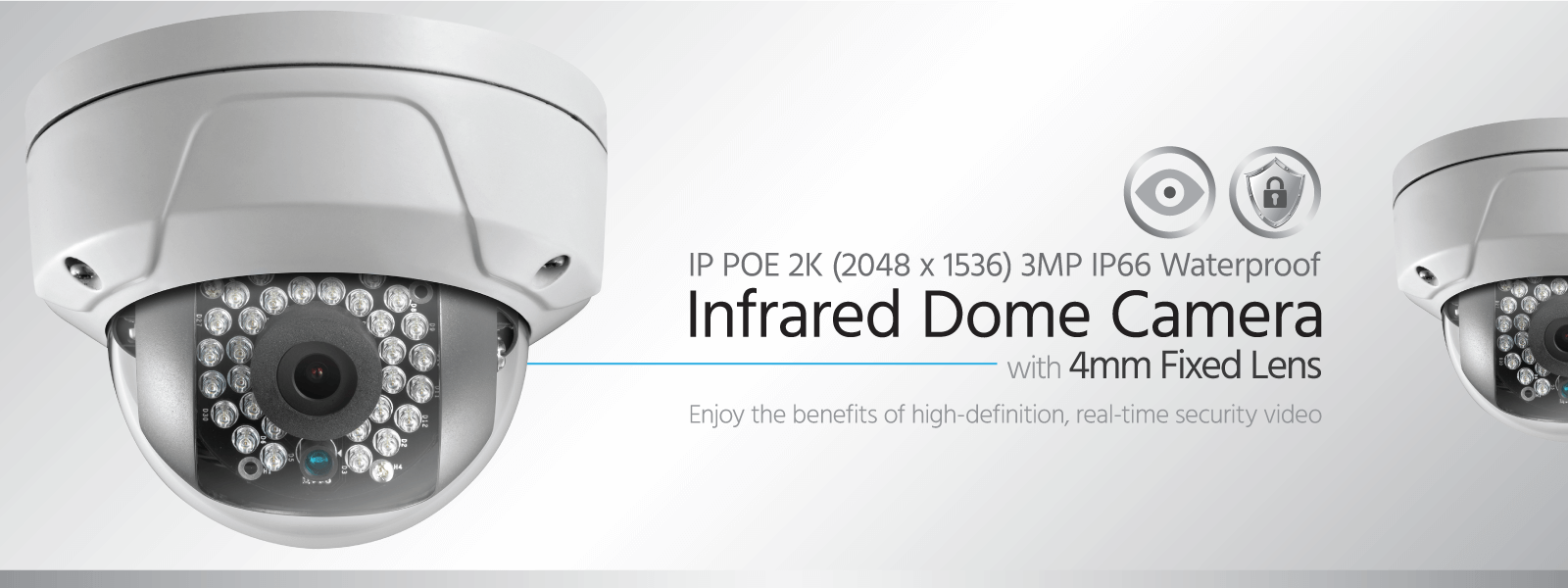 IP PoE Infrared Dome Camera