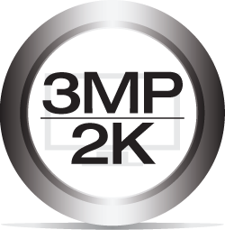 3MP / 2K Resolution