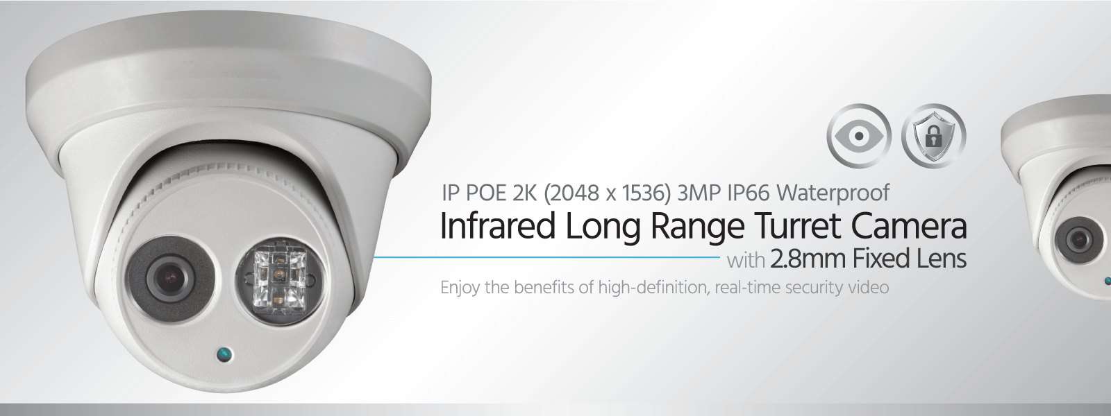IP PoE Infrared Long Range Turret Camera