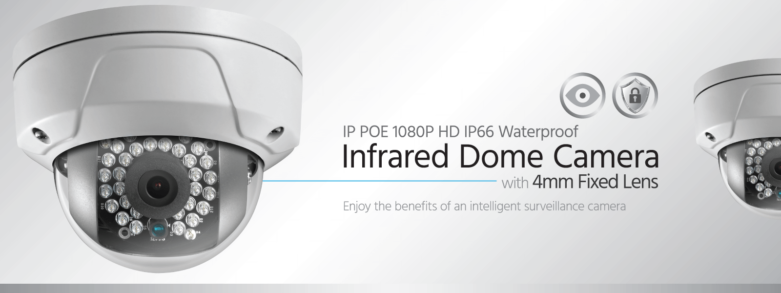 IP POE 1080P Infrared Dome Camera