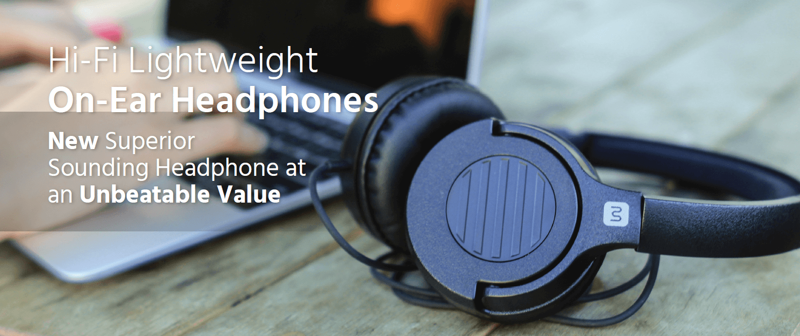 Hi-Fi Lightweight On-Ear Headphones