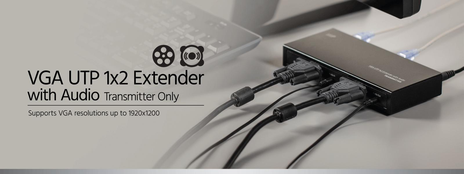 VGA UTP 1x2 Extender Kit