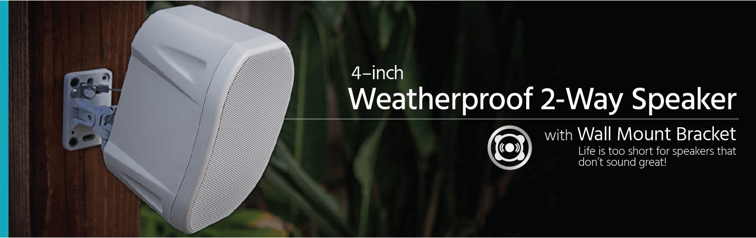 4-inch Weatherproof 2-Way Speakers