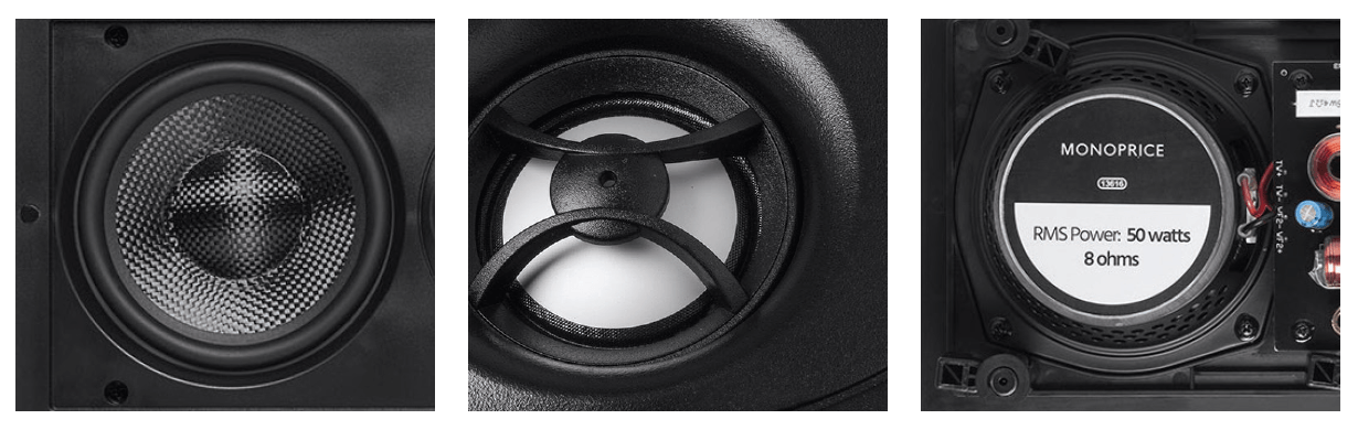 Dual 5.25-inch Carbon Fiber In-Wall Speaker