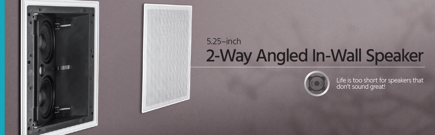 5.25-inch Angled In-Wall Speaker