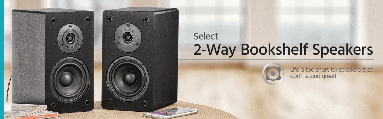 Select 2-Way Bookshelf Speakers