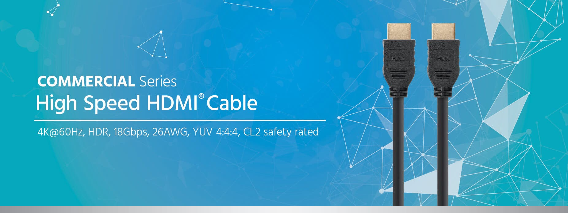 Monoprice Commercial Series High Speed HDMI Cable - 4K @ 60Hz, HDR ...
