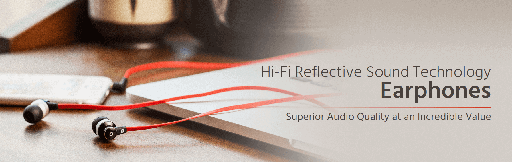 Hi-Fi Reflective Sound Technology Earphones