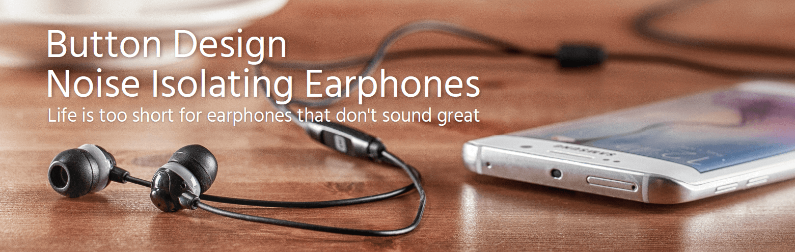 Button Design Noise-Isolating Earphones