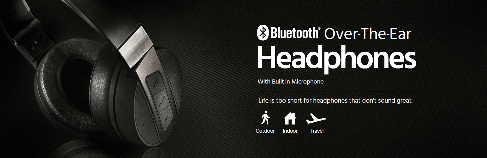 Bluetooth Over-the-Ear Headphones