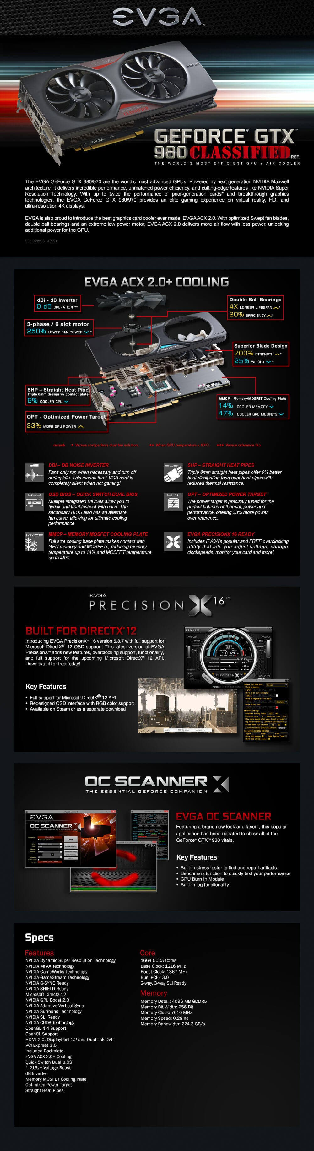 EVGA GeForce GTX 980 Classified