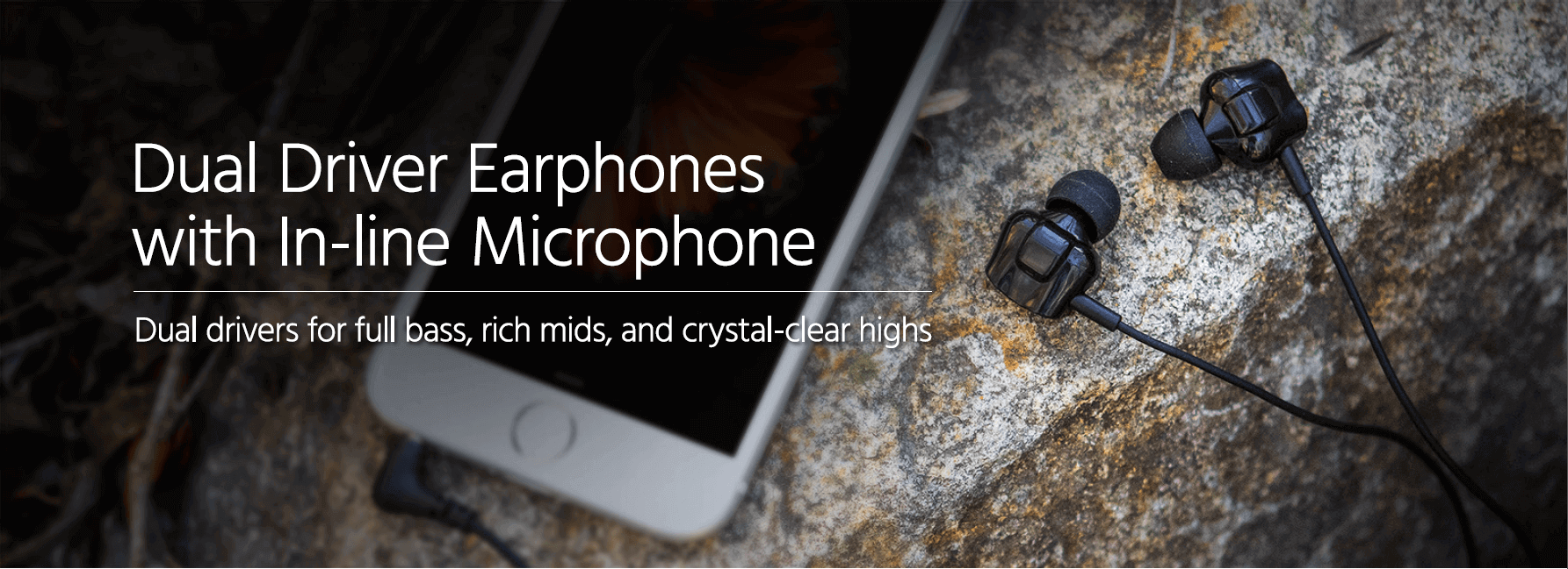 Monoprice Dual Driver Earbuds Headphones With In Line Mic Controller Sending Signals Over A Coaxial Cable Electrical Engineering Earphones