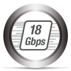 Up to 18Gbps of Bandwidth