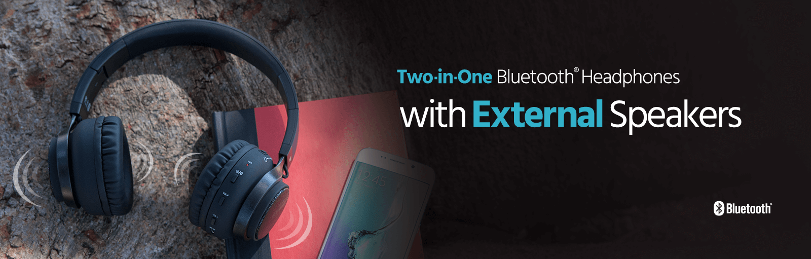 Two-in-One Bluetooth Headphones