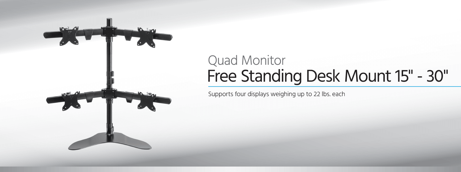 Quad Monitor Free Standing Desk Mount