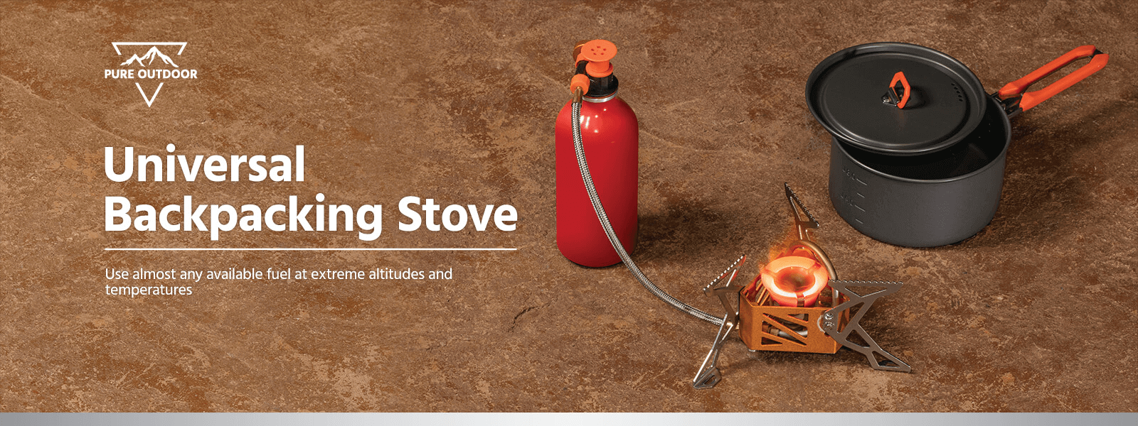 Pure Outdoor Universal Backpacking Stove