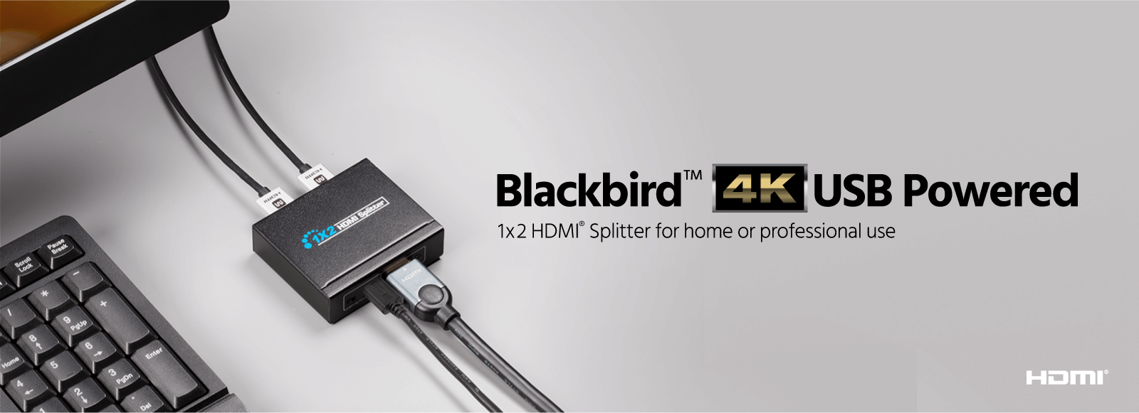 Blackbird 4K USB-Powered 1x2 HDMI Splitter