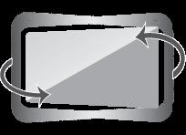 Swivel +60 ~ –60 degrees