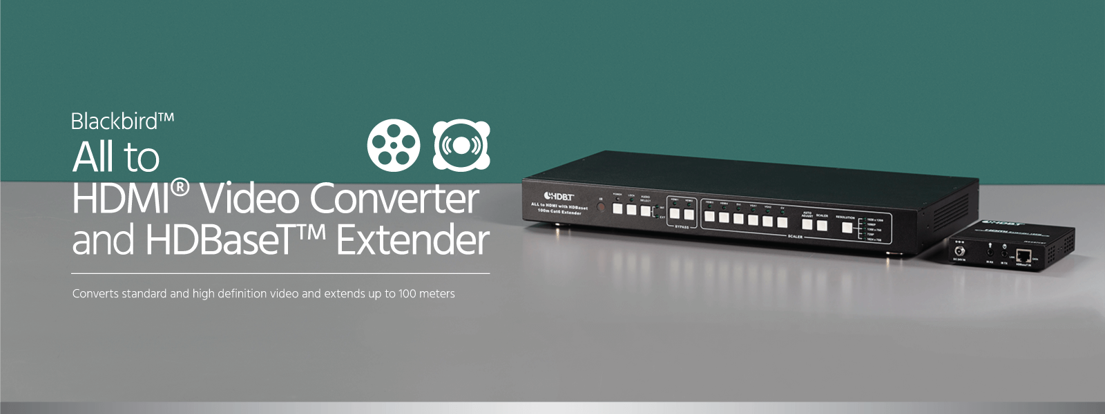 All to HDMI Video Converter and HDBaseT Extender