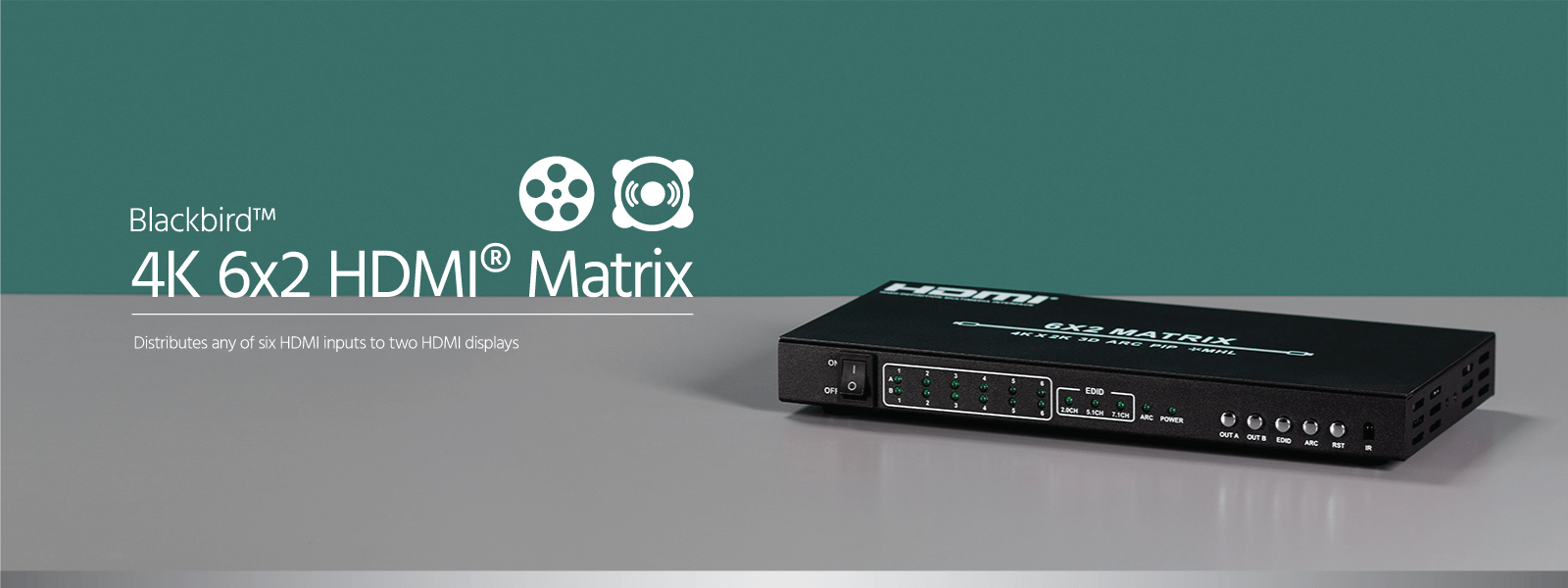 Blackbird 4K 6x2 HDMI Matrix