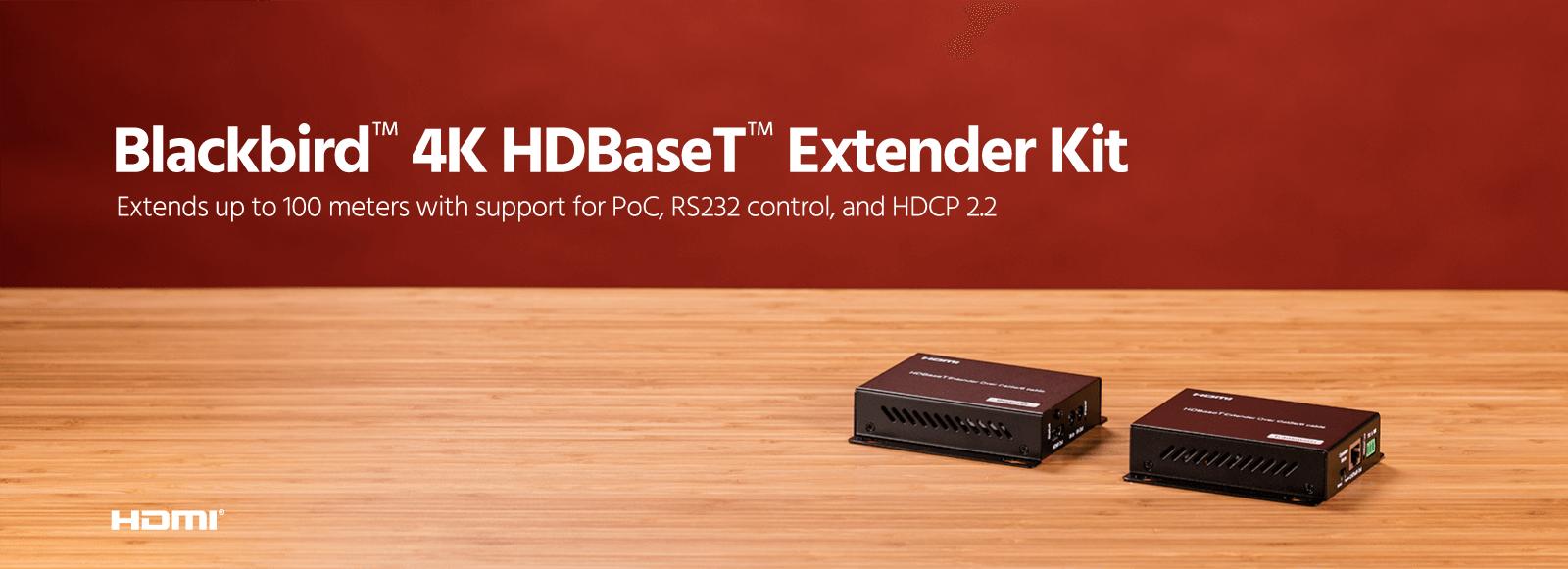 Blackbird 4K HDBaseT Extender Kit
