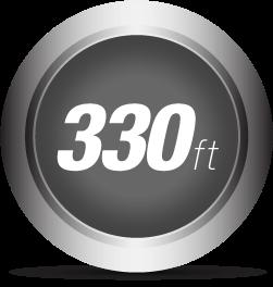 Extends 330 Feet