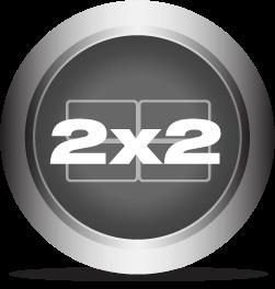 2x2 Video Wall