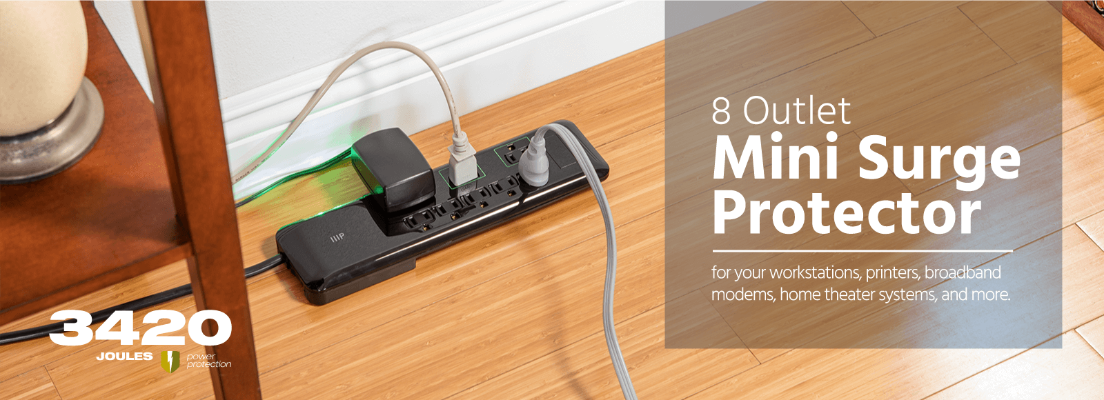 8 Outlet Slim Surge Protector