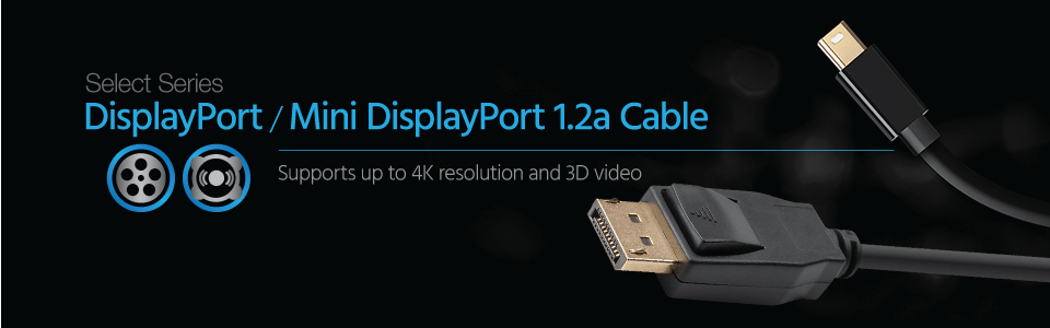 Mini DisplayPort 1.2 to DisplayPort 1.2 Cable