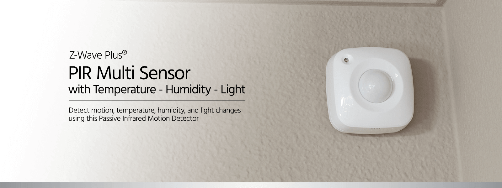 Z Wave Plus Pir Multi Sensor Temperature Humidity