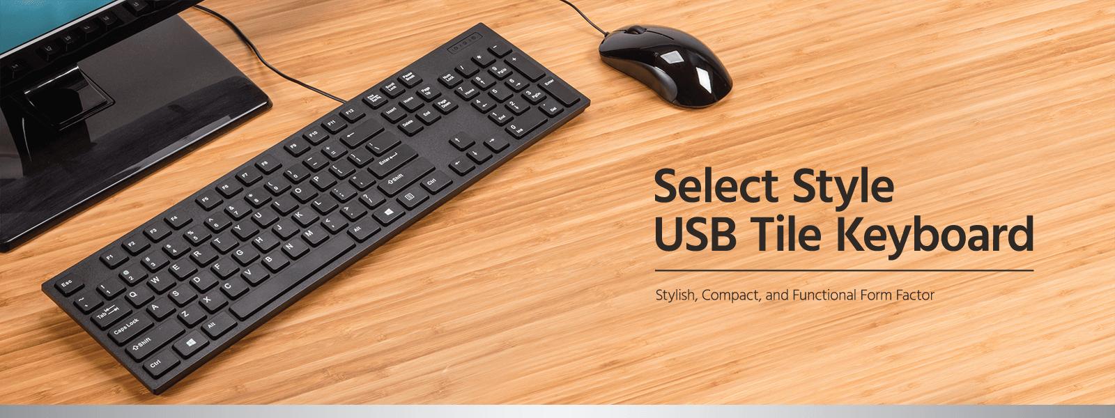Select Style USB Tile Keyboard