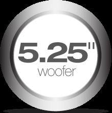 5.25-inch woofer
