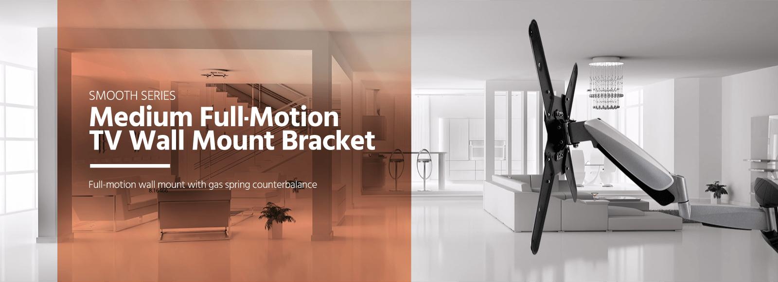 Medium Full-Motion TV Wall Mount Bracket