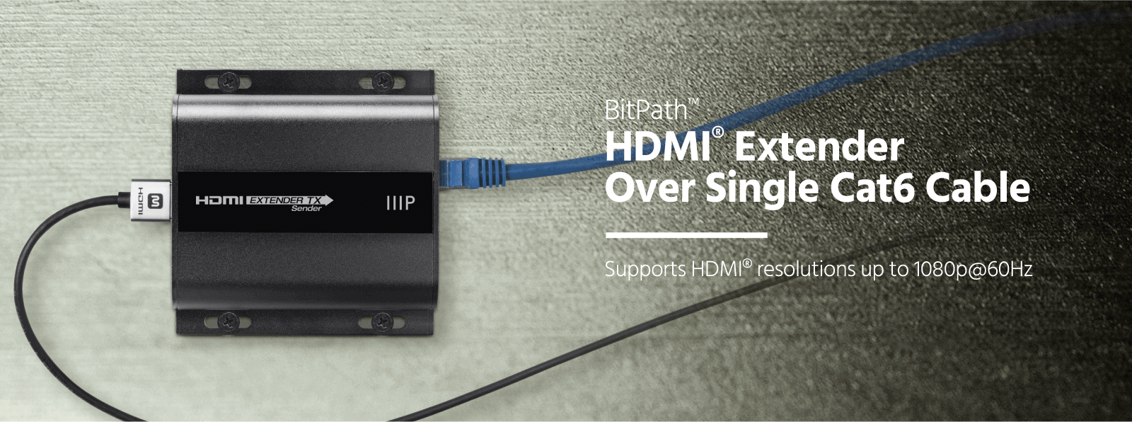 HDMI Extender Over Single Cat6 Cable