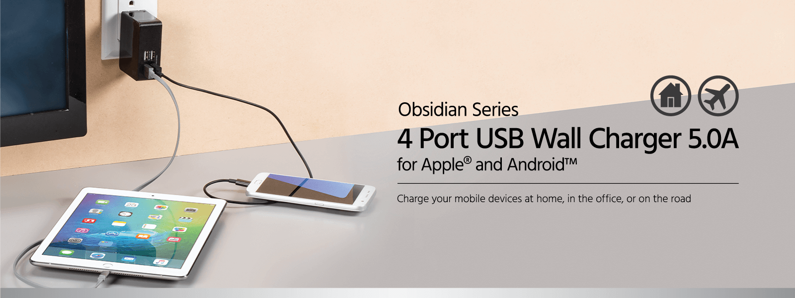 4-Port USB Wall Charger 5.0A