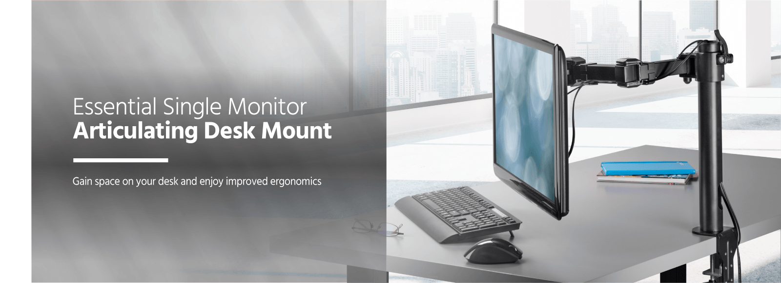 Single Monitor Articulating Desk Mount