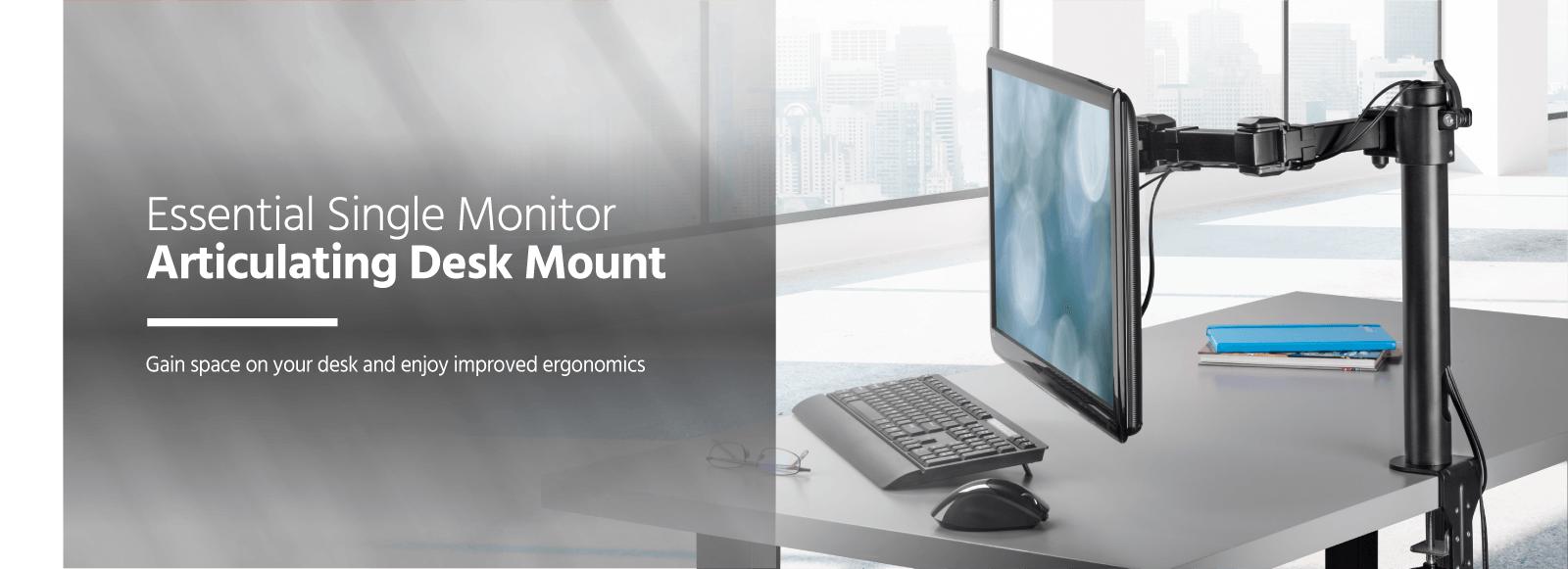 Fabulous Monoprice Essential Single Monitor Articulating Arm Desk Download Free Architecture Designs Scobabritishbridgeorg