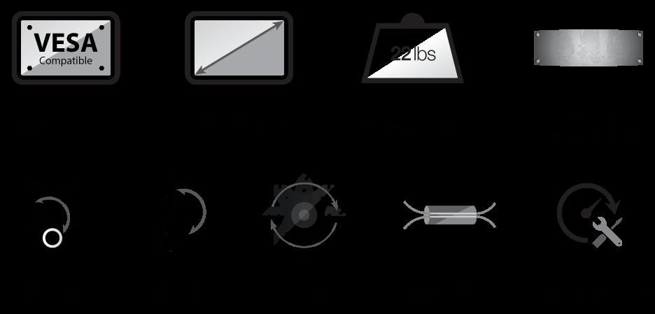 Single Articulating Monitor Desk Mount