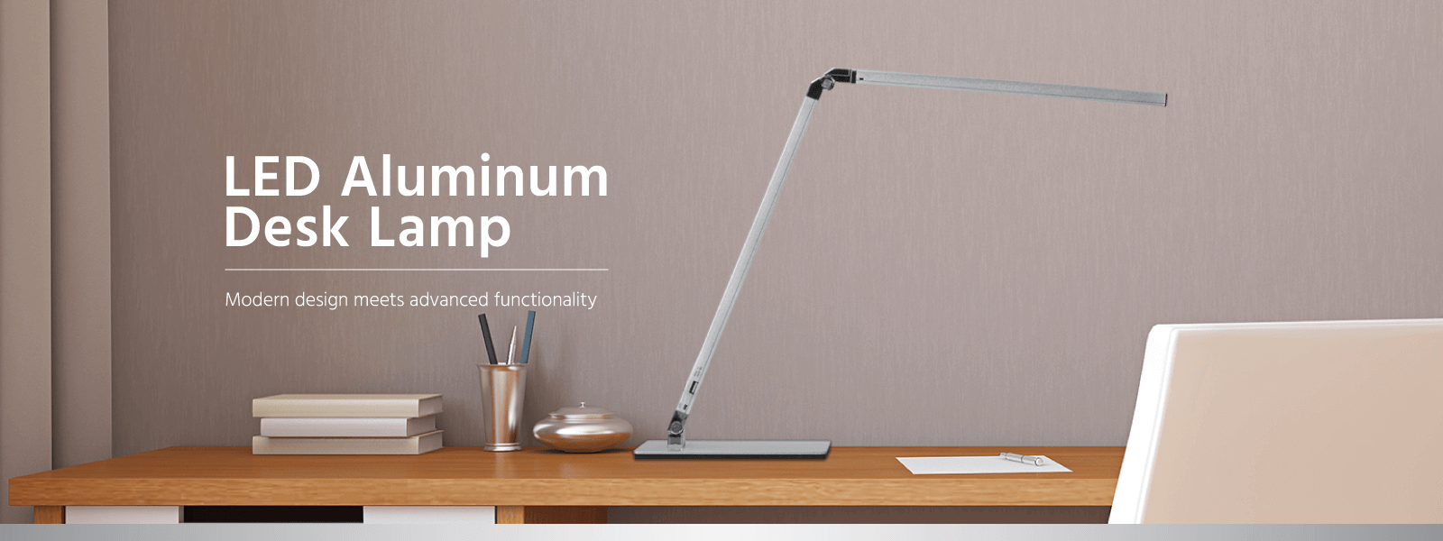 Led Aluminum Desk Lamp Silver