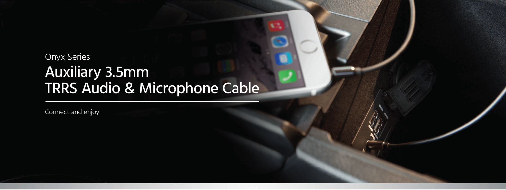 Auxiliary 3.5mm TRRS Audio & Microphone Cable