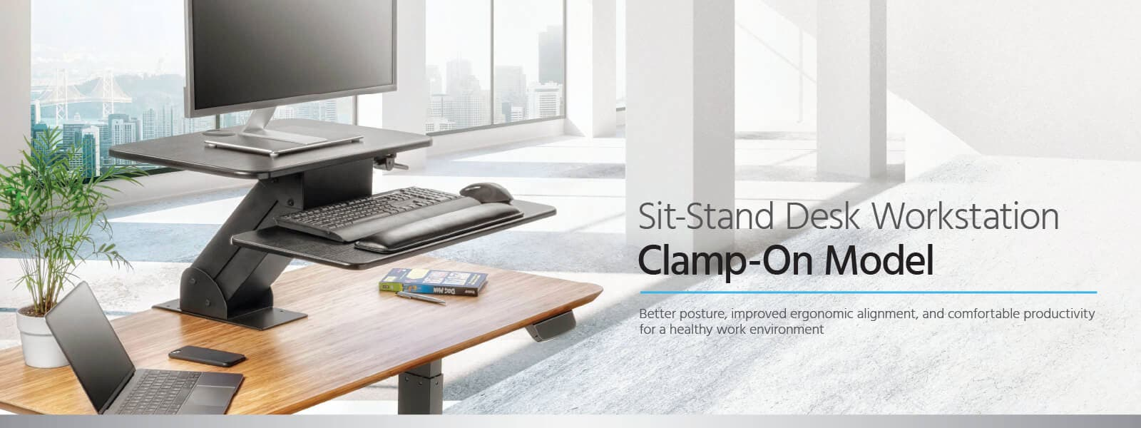 Sit-Stand Desk Workstation