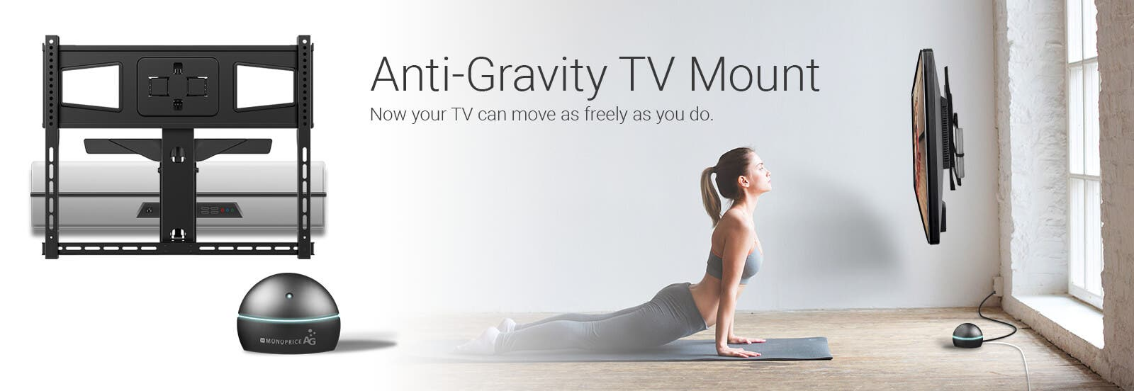 anti gravity tv mount