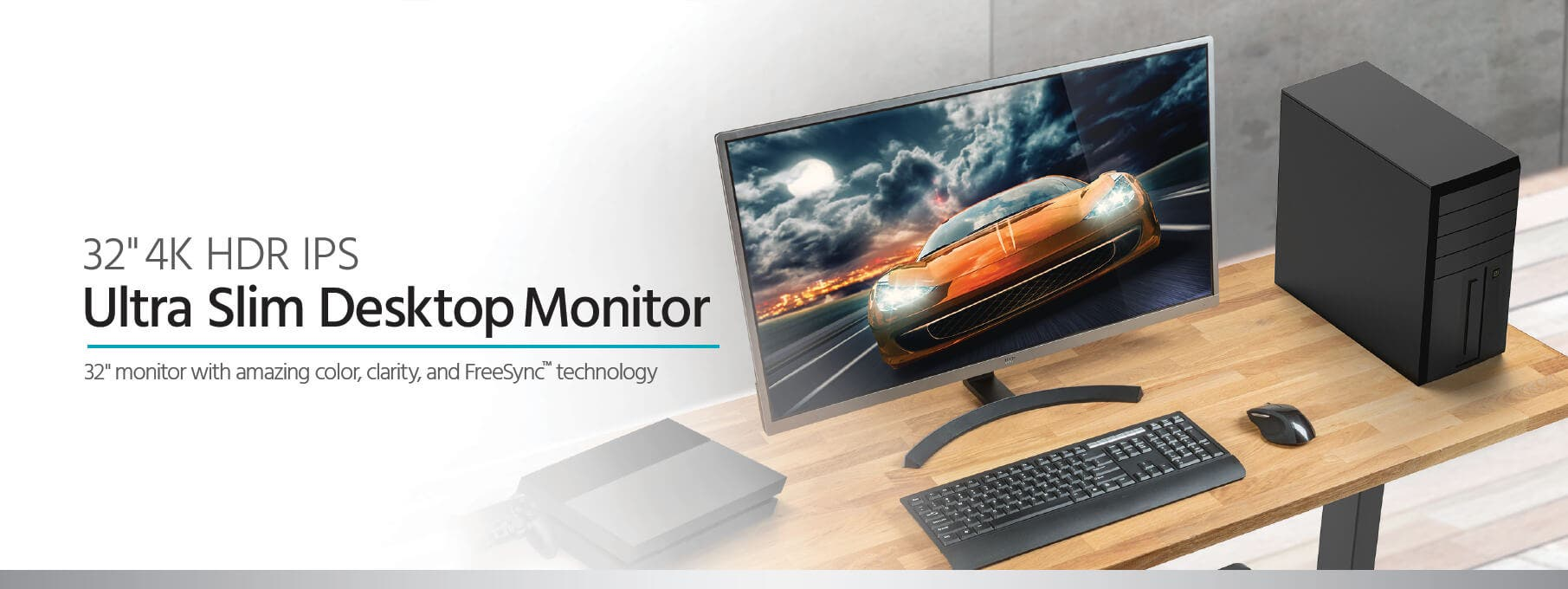 Monoprice 32in CrystalPro Monitor - 4K UHD, 60Hz, HDR